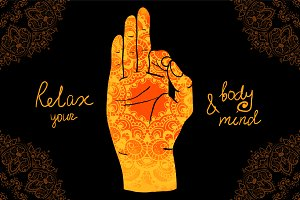 № 43 Creative mudras and mehendi