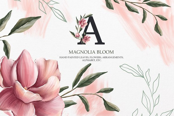 Graphics: SpringArtsShop - Magnolia bloom Collection