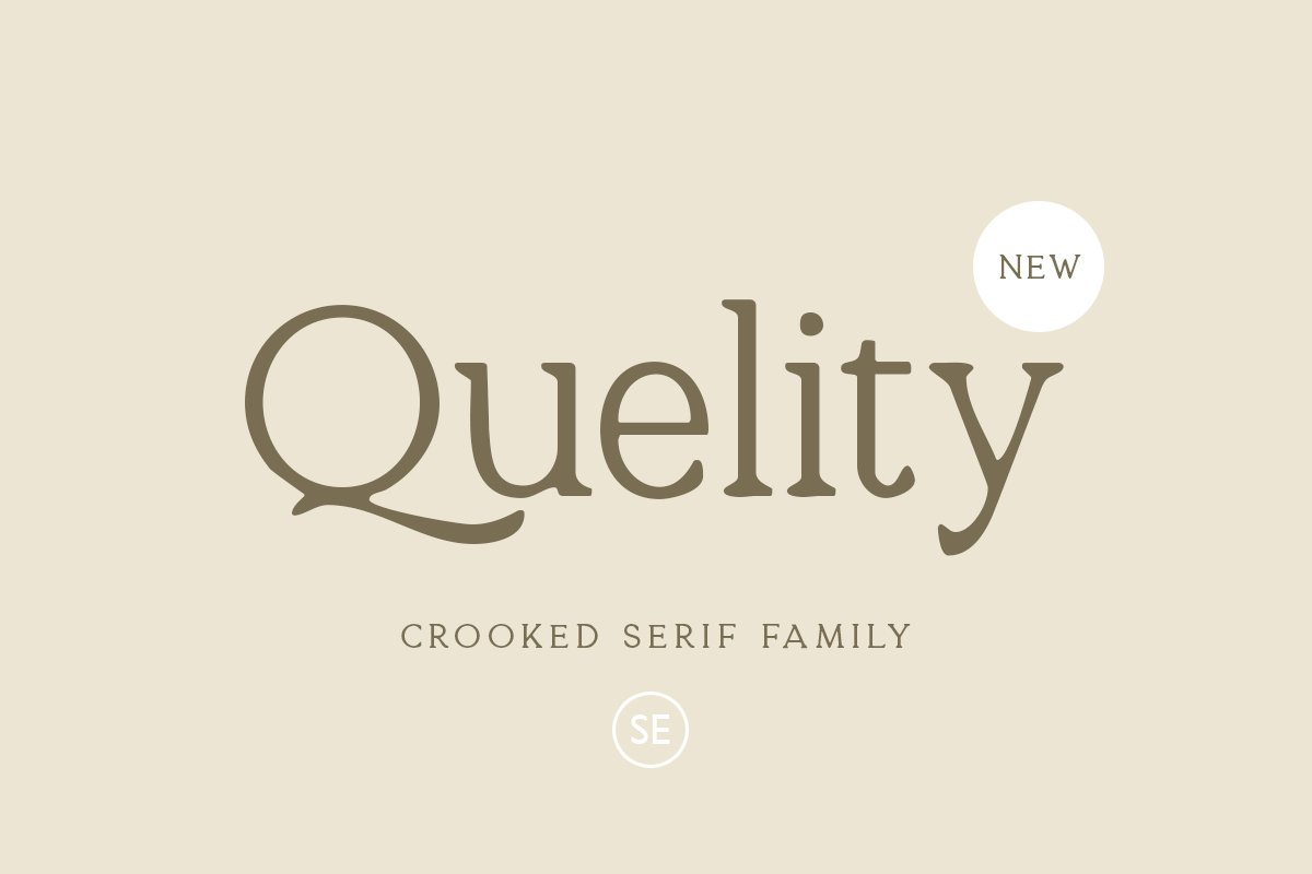 Quelity - Crooked Serif Font