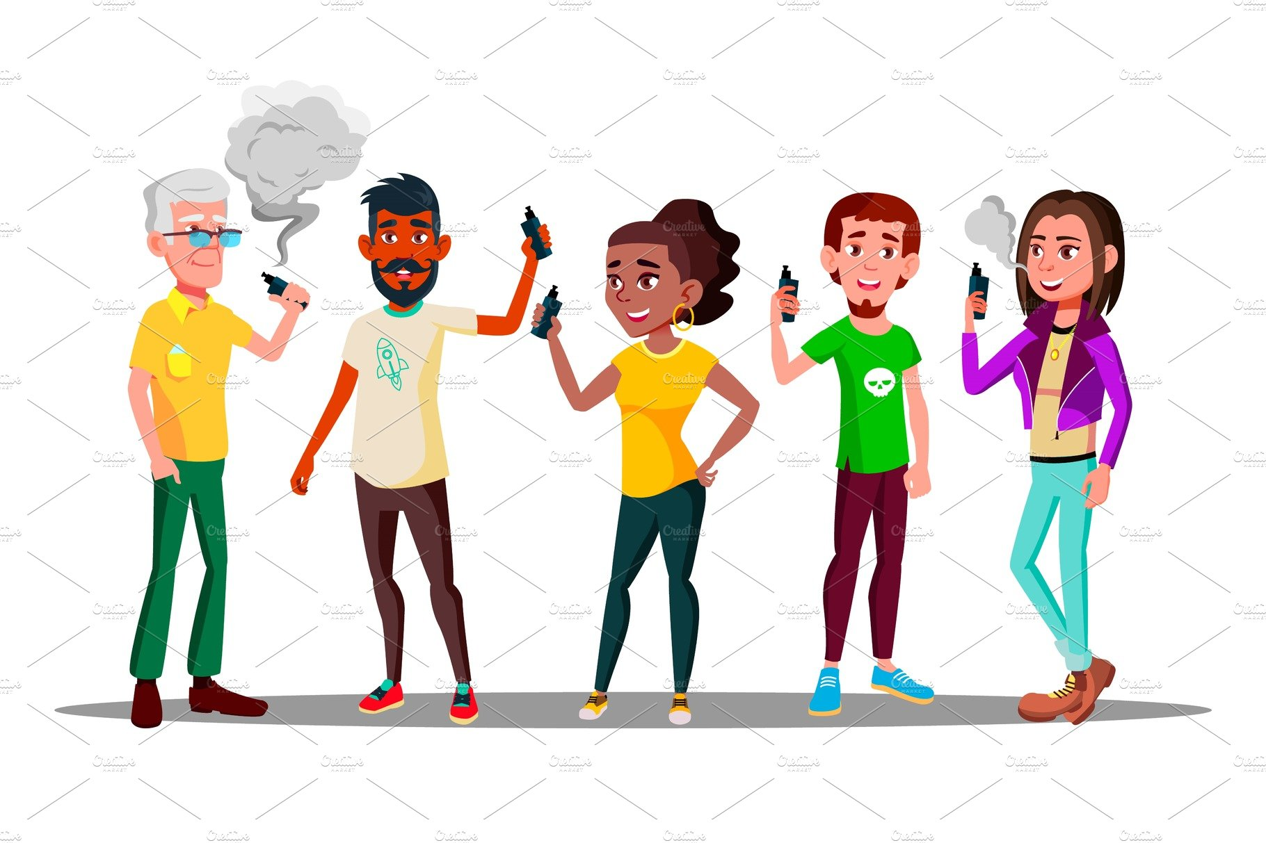 Vape People Vector  Person With