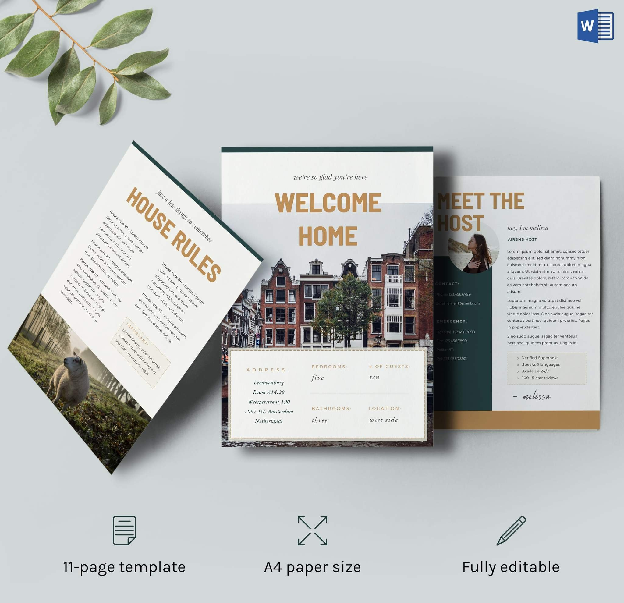 Airbnb Guest Message Template