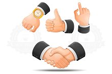Handshake and hand gestures icons
