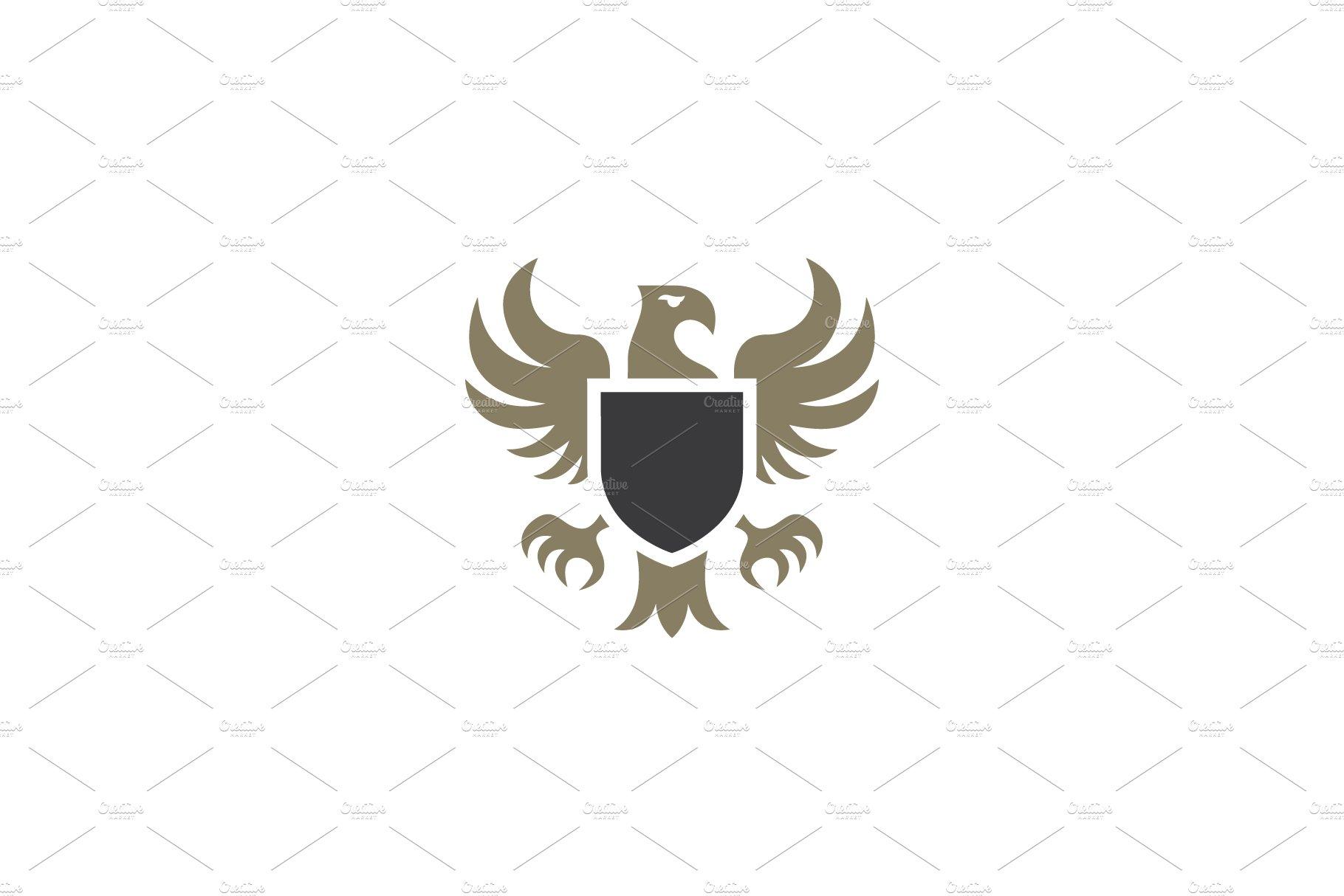 Heraldic eagle emblem template