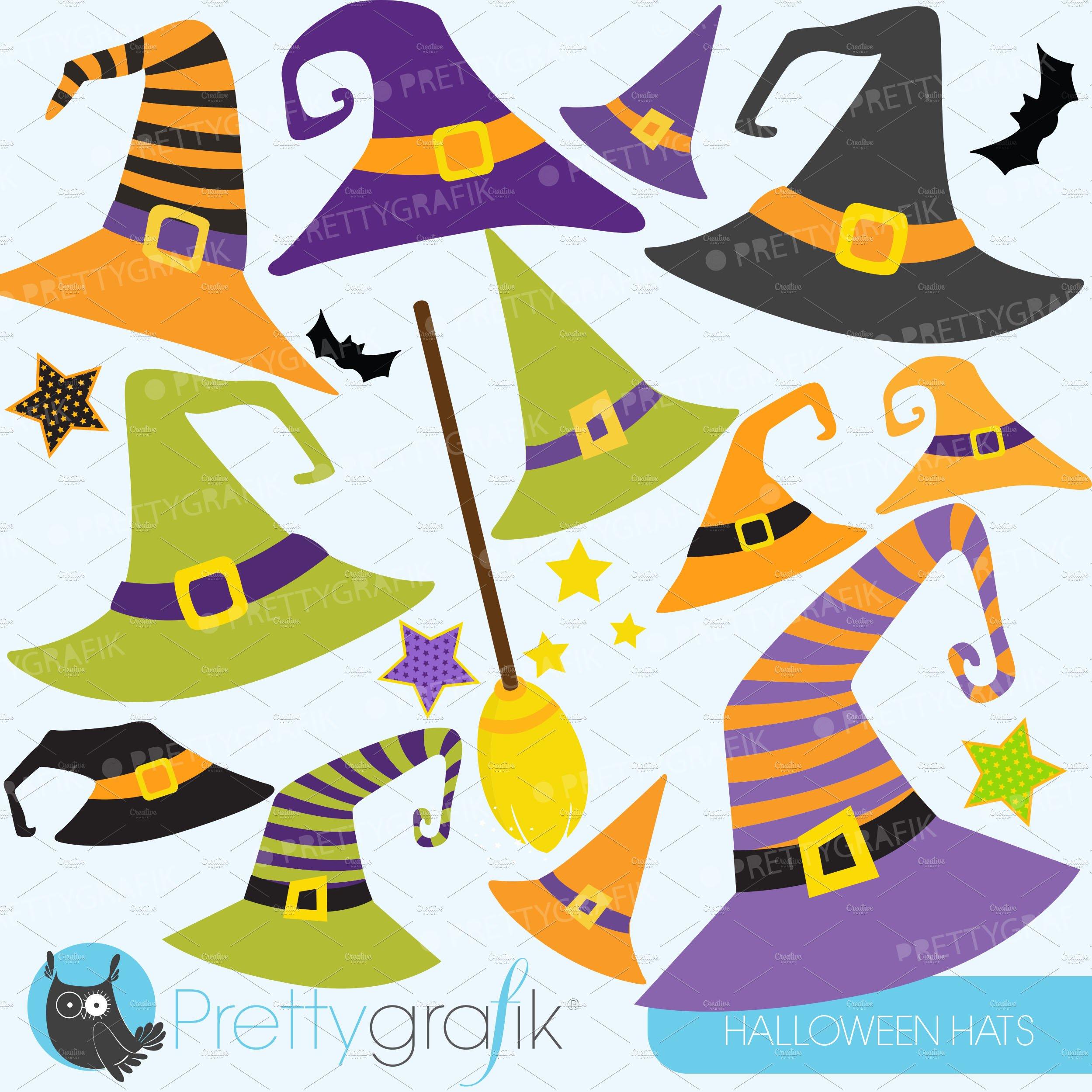 Halloween Hats Clipart Commercial Pre Designed Illustrator Graphics Creative Market