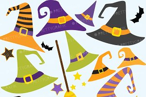 Halloween Hats clipart, commercial