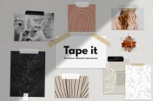 20 Adhesive Tape Pieces by  in Web Elements