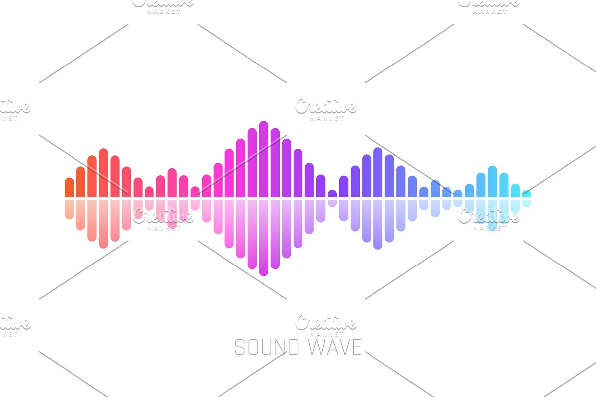 Vector Sound Wave  Colorful