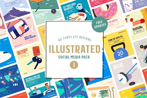 Illustrated Social Media Pack