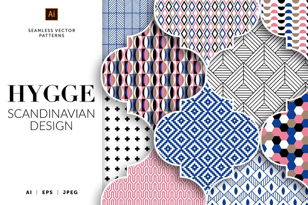 Graphic Patterns: Designnina Shop - HYGGE — Scandinavian vector patters