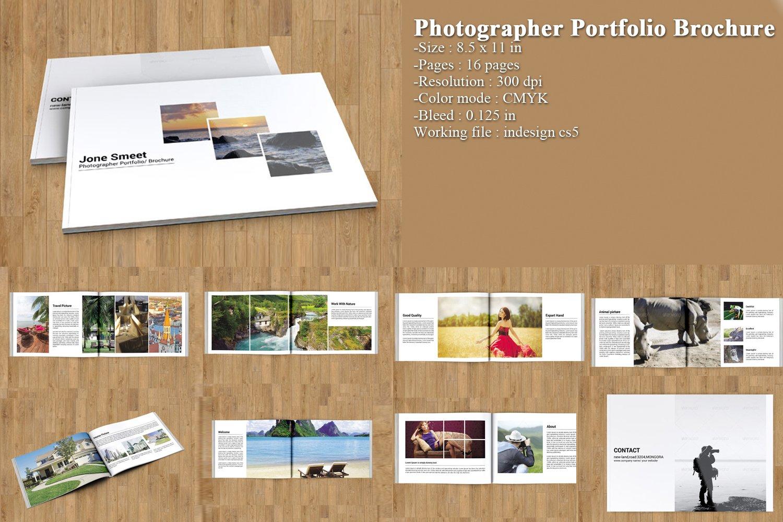 indesign portfolio brochure v163 brochure templates creative market. Black Bedroom Furniture Sets. Home Design Ideas