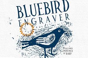 Bluebird Engraver Font