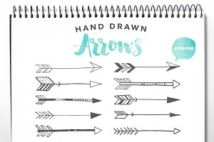 Hand Drawn Arrows Clip Art Vector