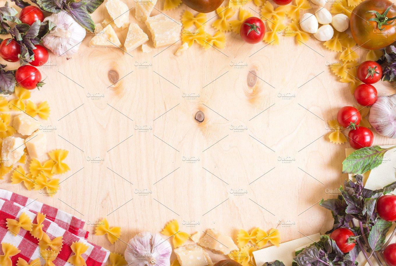 Italian food ingredients background ~ Food Images ~ Creative Market