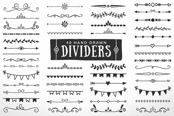 Hand Drawn Dividers Borders