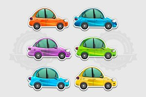 Toy cars stickers