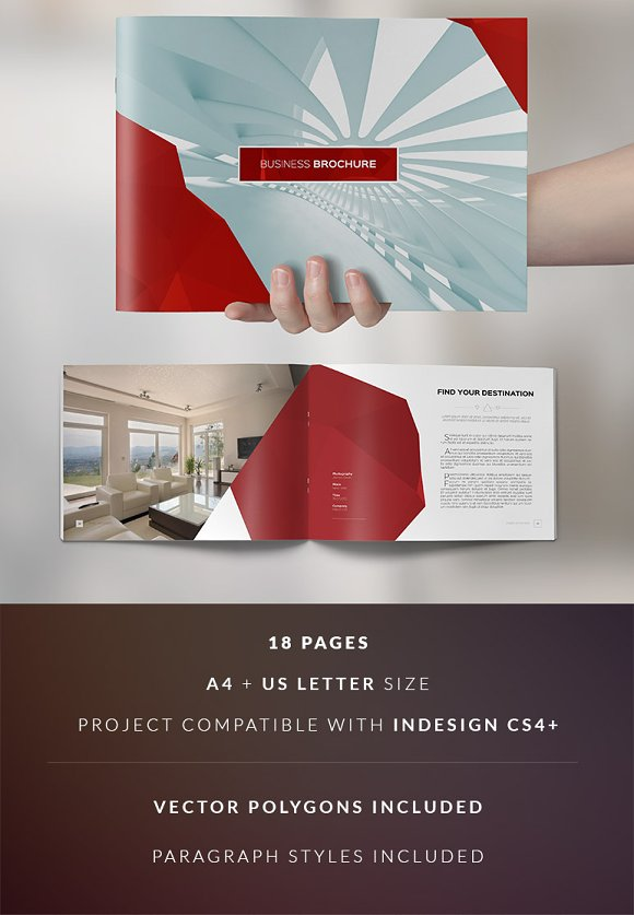 Clean elegant business brochure brochure templates on for Elegant brochure templates