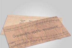 Concert gift voucher