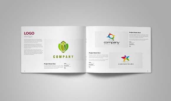 Graphic Design Portfolio Template ~ Brochure Templates ~ Creative Market