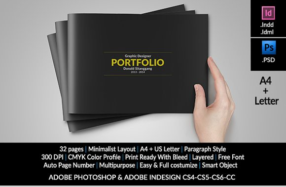 graphic design portfolio template brochure templates creative market