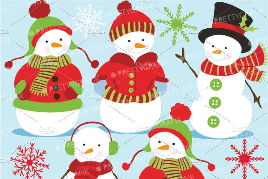 snowman clipart commercial use pre designed illustrator graphics creative market snowman clipart commercial use pre