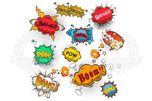 Comic speech bubbles vector