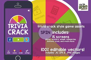 Trivia Crack Game Graphic Assets