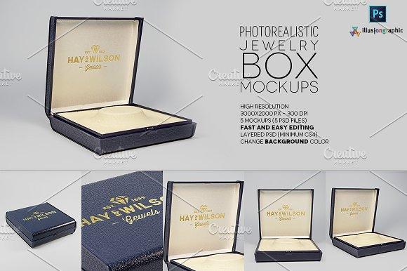 Logo on Jewelry Box Mockups v.1 - Product Mockups