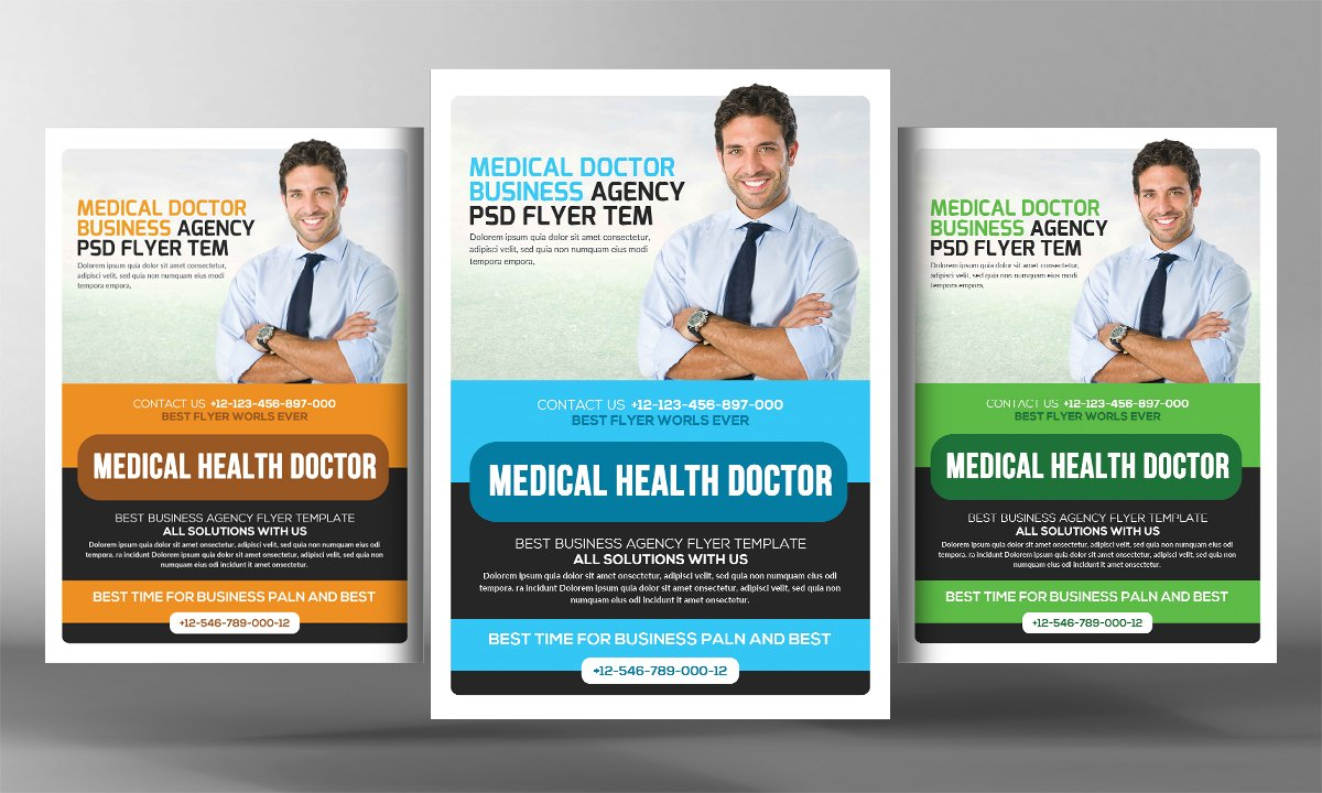 Medical clinic flyer template flyer templates creative for Clinic brochure template