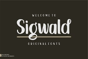 Sigwald - Handdrawn Fonts