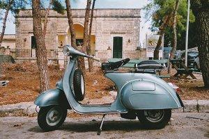 Old Vespa in Italy
