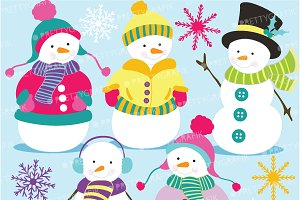Snowman clipart commercial use