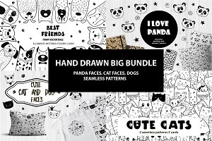 Hand drawn big bundle/Animals
