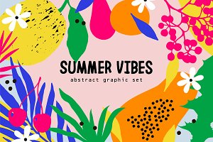 """Summer Vibes"" Abstract Graphic Set"