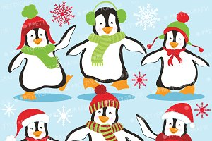Penguins clipart commercial use