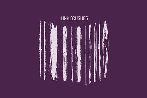 11 Ink Brushes for Illustrator