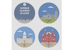 World famous places. Set 17