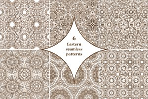 6 Eastern seamless patterns
