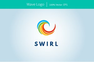Abstract Wave Swirl Logo