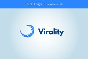 Abstract Spiral Logo