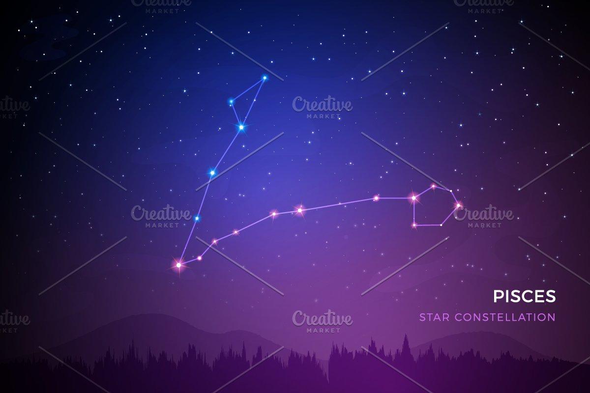2d1f750c8 Pisces Star Constellation ~ Illustrations ~ Creative Market