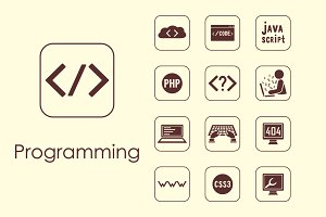 programming simple icons