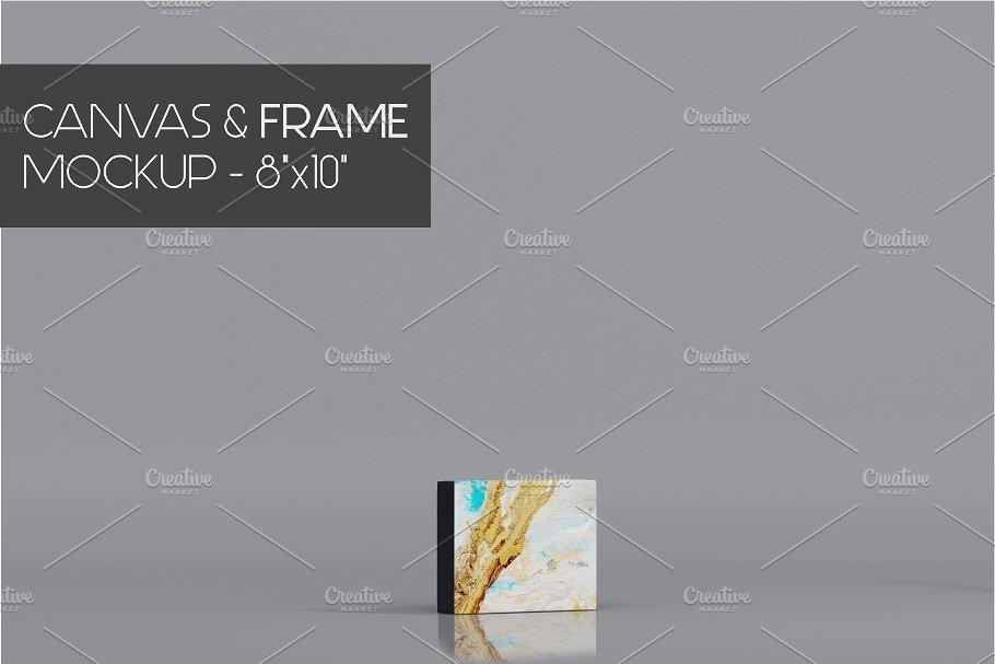 Minimalist Canvas Frame Mock-Up 8x10