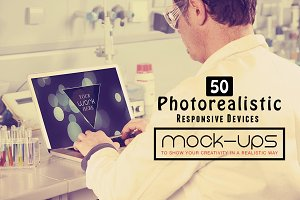 50 PSD Photorealistic Devices Mockup