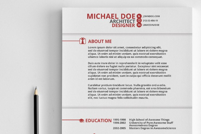 swiss style resume resume templates creative market - Style Of Resume