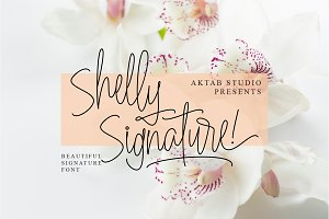 Shelly Signature Font