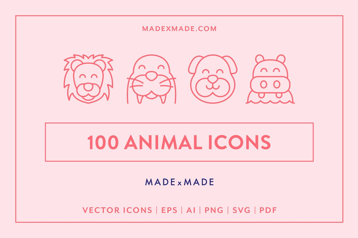 Line Icons – Animals