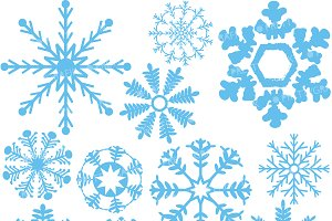 50 Rainbow Snowflake Clip Art ~ Illustrations on Creative Market