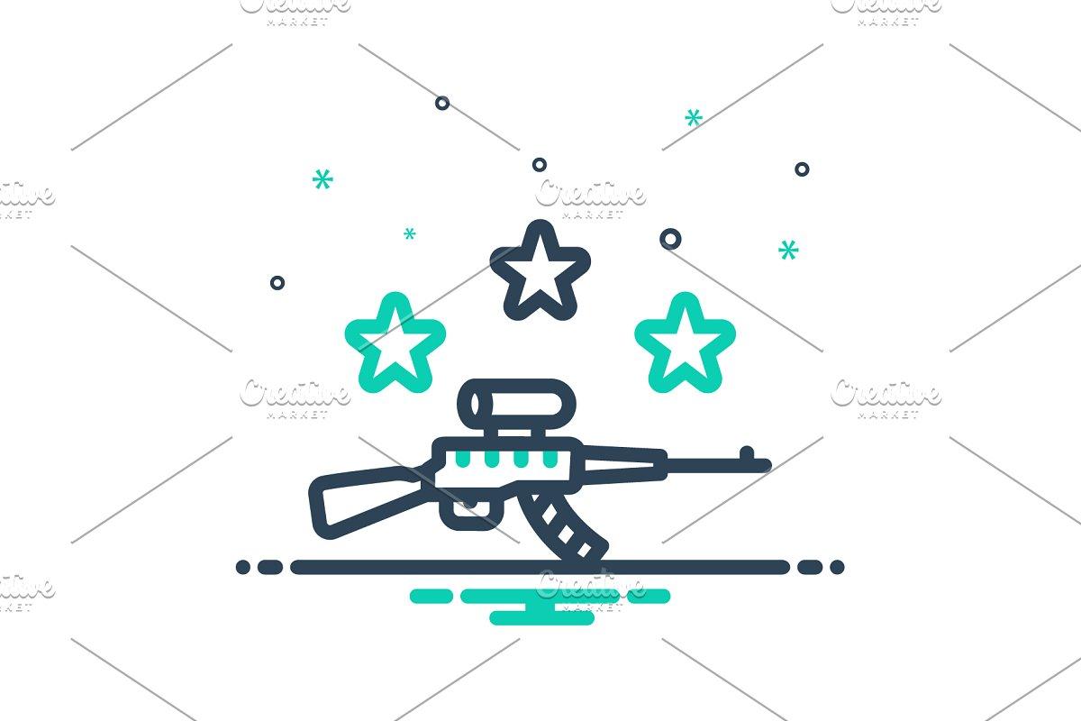 Gun musket icon