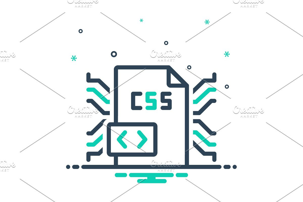 Css coding icon