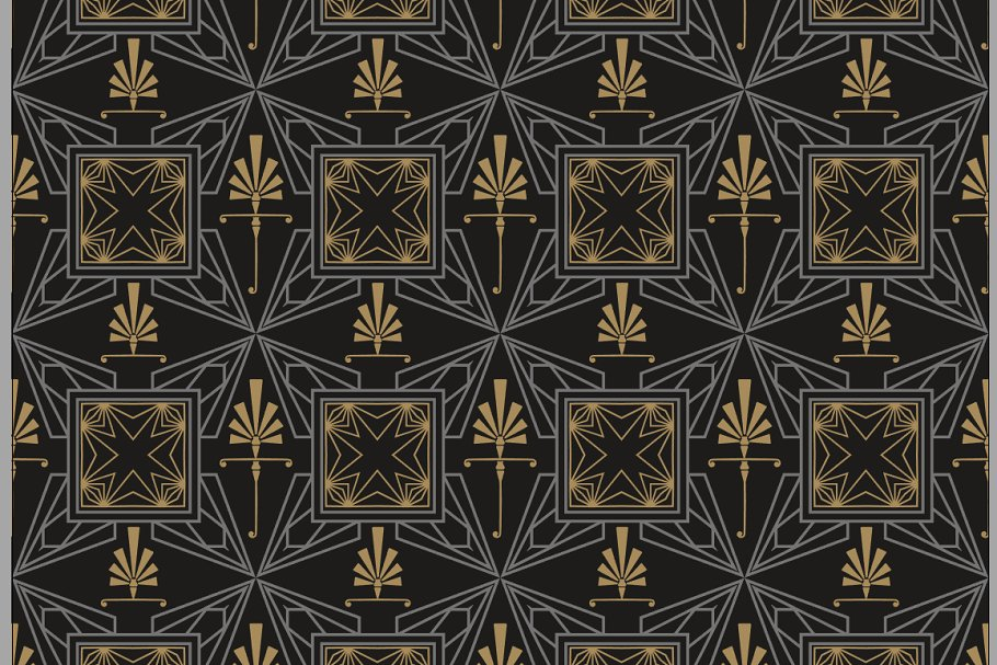 Art Deco Background Custom Designed Graphic Patterns Creative